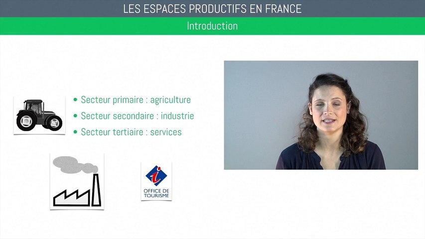Brevet géographie - Les espaces productifs en France