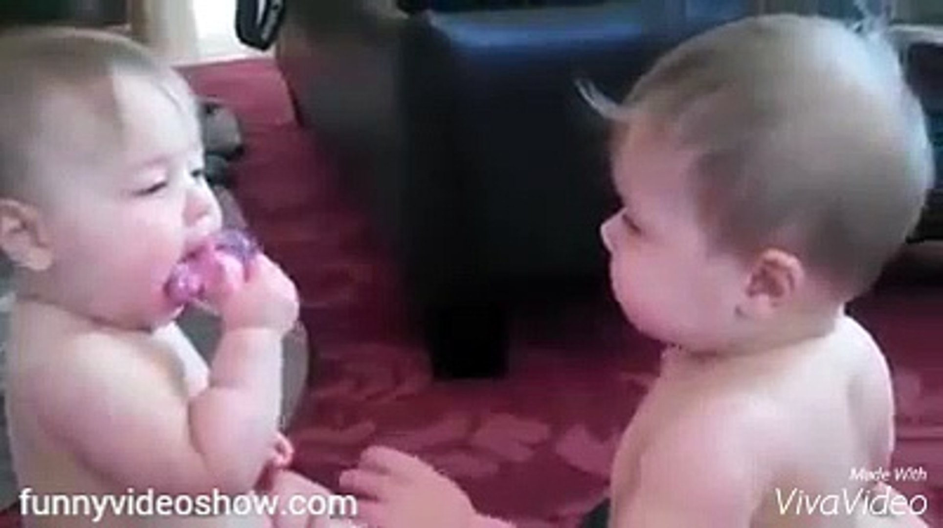 funny video show cute baby