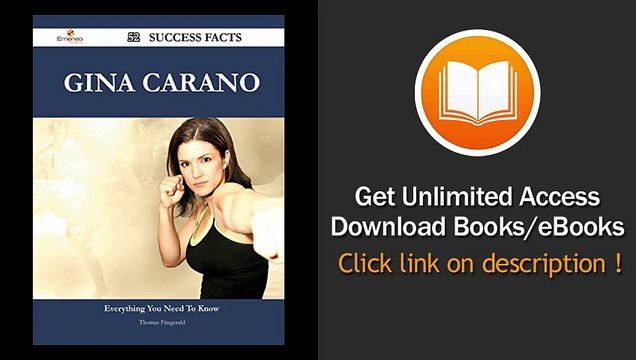 Gina Carano 52 Success Facts Everything you need to know about Gina Carano - BOOK PDF