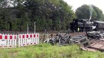 Angelner Dampfeisenbahn mit der SJ 1916 von Süderbrarup nach Kappeln.