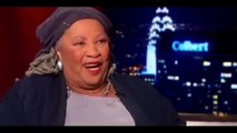 COMPLETE INTERVIEW: Stephen Colbert Interviewes Toni Morrison On the Colbert report (11/20/2014)