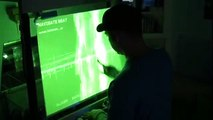 """""""Multi-touch the storm""""  interactive sound visuals by subcycle labs."""