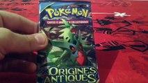 Ouverture de booster Pokémon origine antique en français