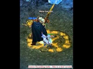 Odin quest on Gamebox Abdomine mine Boss fight