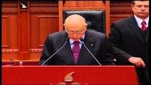 Napolitano nis vizitën zyrtare në Tiranë. Riafirmon mbështetjen për integrimin e Shqipërisë në BE