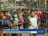 Desalojan a manifestantes de la Gobernación de Morona Santiago
