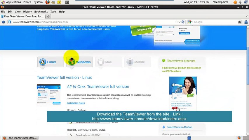 How to install TeamViewer on CentOS 6