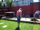 Back Handspring Back Layout On Grass