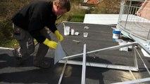 ClimaCare solcellepanel montage på falt tag
