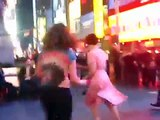 Voon's Birthday Jam @ Times Square New York City to Baby Soda Jazz Band - Swing Dancing Lindy Hop