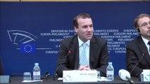 Pressekonferenz mit Manfred Weber, CSU und MEP aus Deutschland