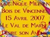 Pique Nique militant Bois de Vincennes