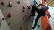 Chris Sharma Rock Climber Climbs 8a+ At The Quay Climbing Centre Exeter