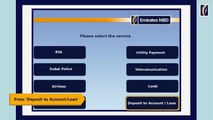 Depositing cash in a Bank Account through Emirates NBD ATMs