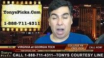 Virginia Cavaliers vs. Georgia Tech Yellow Jackets Pick Prediction College Football Odds 11-1-2014