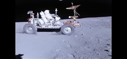 "Apollo 16 lunar rover ""Grand Prix"" in HD"