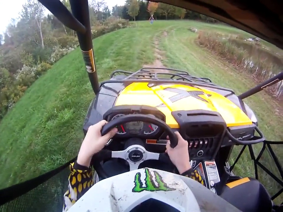 Driving the Can-am commander 1000.