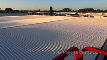 Solar Farm on Corrugated Iron Rooftop in Berlin - SolBond Rail Mounting System