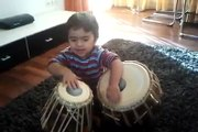 3 years old kid plays amazing tabla