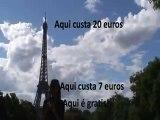 Paris Torre Eiffel (Tour Eiffel) video filmado e editado em Julho/08