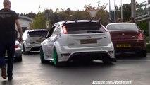 2x LOUD Jam-Sport Focus RS JS500 w/ Custom Exhausts: Revving, Accelerating & Backfire! 1080p HD!