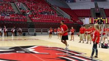 Freshman wins free tuition with half-court basketball shot!