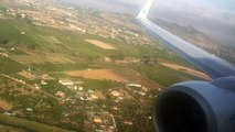 Luxair Luxembourg airlines Boeing 737-800(W) bumpy landing at Málaga Costa del Sol airport (Spain)
