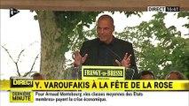 Petit moment de solitude pour Yanis Varoufakis à Frangy