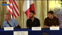 Un des héros américains du Thalys remercie la France