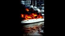 $4 Million dollar yacht explodes into flames