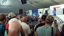 Asimo humanoid robot by Honda presentation at Oshkosh airshow 2013.