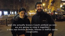 HITCH AROUND WORLD | Singing Czech anthem with beautiful Georgian lady Ana in Tbilisi, Georgia