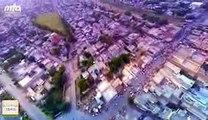 Aerial view of Ahmadiyya town of Rabwah Chenab Nagar Pakistan