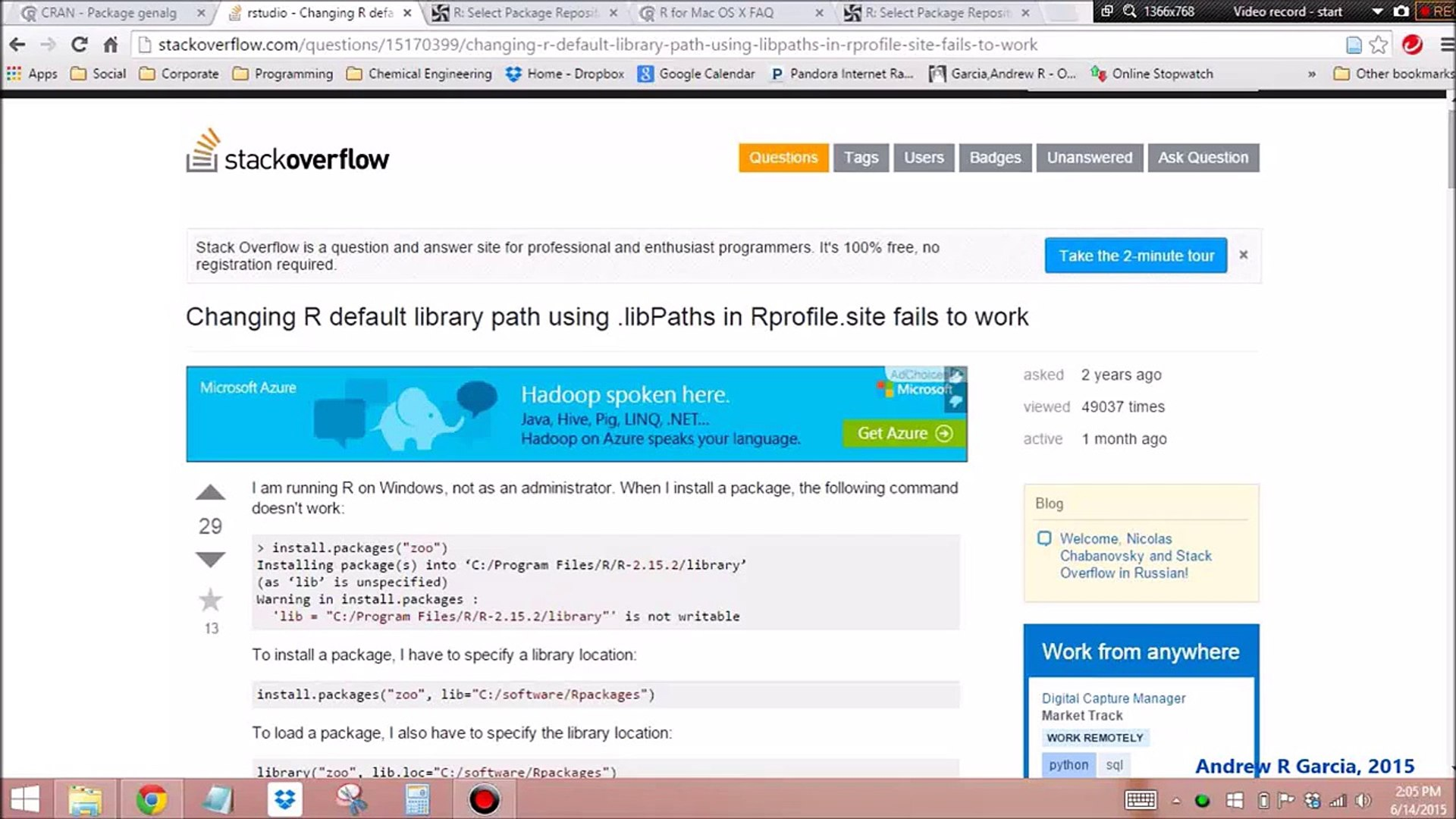 Installing Packages in RStudio: Install Path Problem Fix