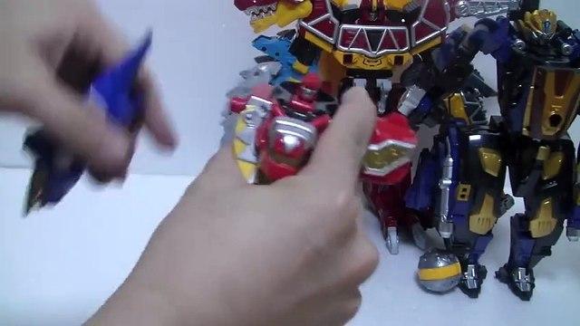 đồ chơi siêu nhân khủng long sấm sét  파워레인저 다이노썬더 썬더 메가조드 애니멀 변신 장난감 Power Rangers Toys