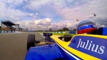 Nicolas Prost Driving Donington Track