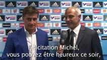 """Michel : """"Je suis très content et très fier de mes joueurs"""""""