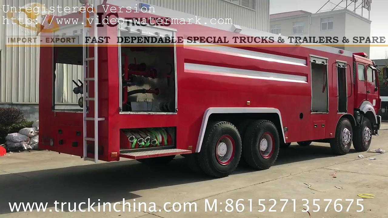 beiben trucks 3138 water foam fire truck  TIC TRUCKS