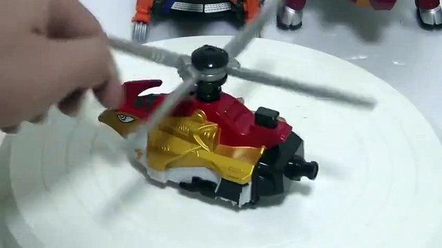 파워레인저 엔진포스 트리콥터 장난감 회전 소개 đồ chơi Siêu Nhân Cơ Động Tập Power rangers Go Ongers Toys
