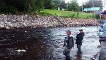 Rivière à Mars (Saguenay), Claude Côté (La Baie), Saumon 13 Juillet 2011