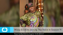 Missy Elliot Is Joining The Voice in Season 9!