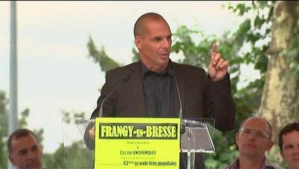 Discours d'Arnaud Montebourg et Yanis Varoufakis