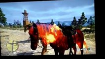 Horses in fire Red Dead Redemption Undead Nightmare Gameplay Ps3 UndeadHorsesCreaturesofapocalypse