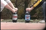 Diet Coke vs Diet Pepsi Mentos Experiment