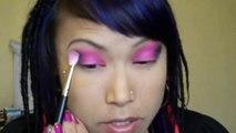 Bright Pink & Navy Blue Eyeshadow