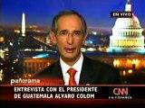 Entrevista del Presidente Álvaro Colom en CNN en Washington