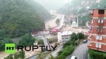 Heavy flooding, landslide after torrential rains pound north-eastern Turkey