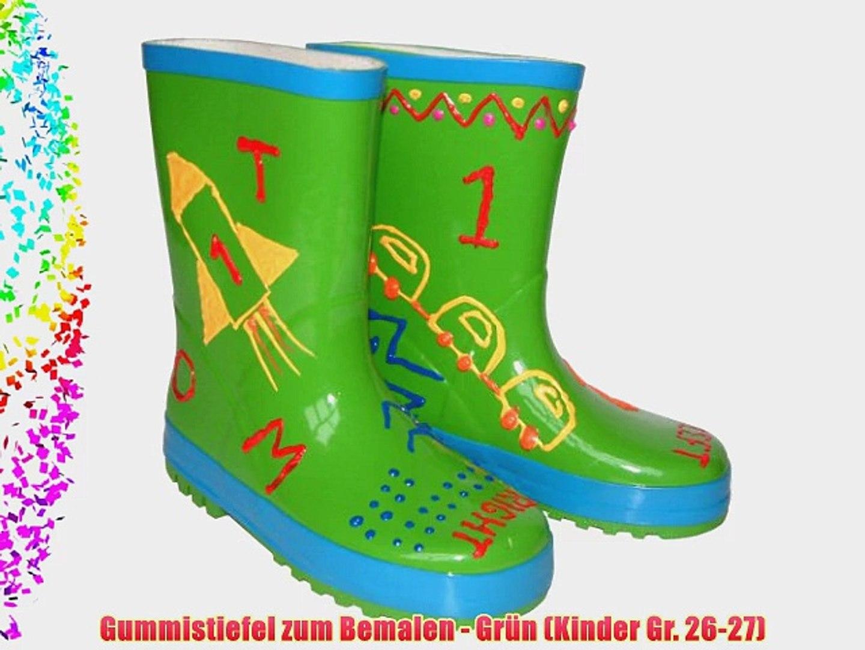 finest selection 5b664 76f57 Gummistiefel zum Bemalen - Gr?n (Kinder Gr. 26-27)