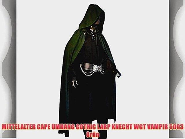 MITTELALTER CAPE UMHANG GOTHIC LARP KNECHT WGT VAMPIR 5003 Gr/ün