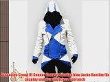 Assassins Creed III Connor Kenway blau Kost?m Jacke Cosplay Gr??e XXL(H?he 183-187 cm Brust
